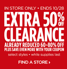 jcpenney 50 clearance items in stores only stack