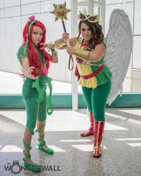 Hawkgirl Halloween Costume Poison Ivy U0026 Hawkgirl Heroic Girls Halloween Costumes