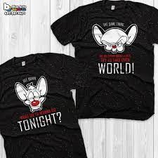 pinky and the brain pinky and the brain couple shirts retro pinky and the brain