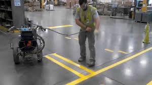 Floor Tape by Durable Warehouse Striping And Floor Markings Youtube