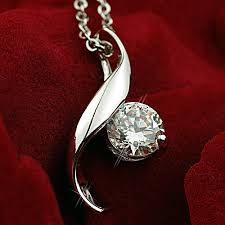 wedding necklace gifts images Clementia decor princess leaf cz diamond necklace 0 8 ct birthday jpg