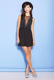 fit and flare dress forever 21 forever 21 sequin fit flare dress in black lyst