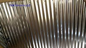 How To Put Up Tin Ceiling Tiles by Corrugated Metal Ceiling Install Youtube