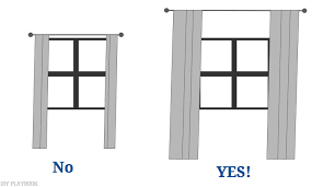 Where To Put Curtain Rods How To Hang Curtains High And Wide To Make Your Window Appear Larger