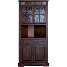 barnwood china cabinet with glass front and base also corner hutch