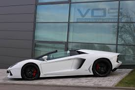 Lamborghini Aventador Coupe - white lamborghini aventador roadster by vos gmbh gtspirit