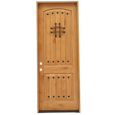 How To Install A Prehung Front Door Pacific Entries 36 In X 96 In Rustic 2 Panel Stained Knotty