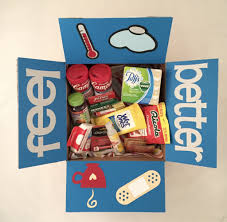 feel better care package large get well box care package products wood