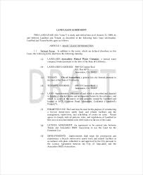 land lease template 7 free word pdf documents download free