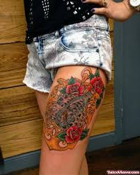roses and anchor on left thigh viewer com