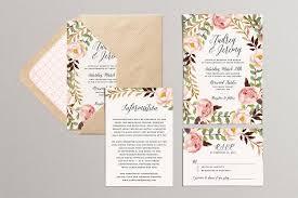 garden wedding invitations printable wedding invitation set floral wedding suite diy