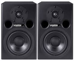 fostex pm0 5 b pair of 5 powered studio monitors in black full