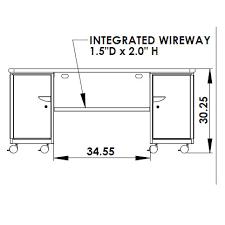 smith system cascade teacher desk double tote cabinet w doors