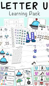 letter u worksheets for preschool kindergarten pack fun with mama