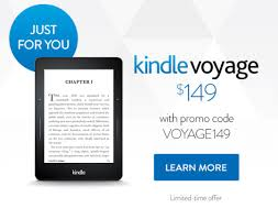 black friday kindle voyage exclusive deal on kindle voyage u2013 50 off with a promo code