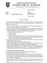 surat edaran setda pengadaan langsung