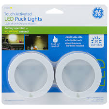 led puck lights amazon ge touch activated led puck lights 20 lumens white 25434
