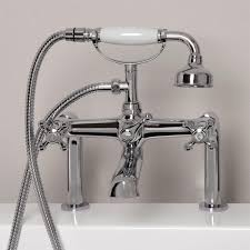 vera deck mount tub faucet and hand shower bathroom