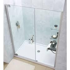 30 Shower Door Dreamline Elegance Frameless Pivot Shower Door And Slimline 30 X