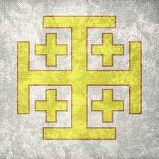 kingdom of jerusalem grunge flag 1099 1187 by undevicesimus