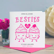 birthday card for best friends best friend birthday card besties by designs