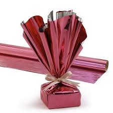 mylar wrapping paper hygloss products mylar gift wrap roll 24 inch by 8 3 pink