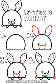 coloring pages fancy kids drawing tutorial letter bunny rabbit
