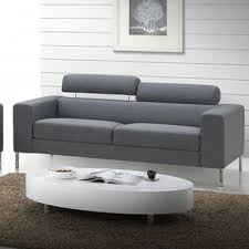 canapé gris design canap 2 places design top canap places design traffic sofa par