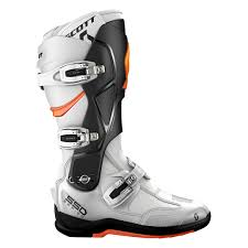 best sport motorcycle boots scott 550 mx boot white orange offroad boots fantastic savings