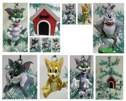 tom and jerry 9 tree ornaments