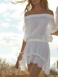 casual dresses white m see thru off the shoulder mini dress gamiss
