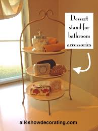 Spa Like Bathroom Accessories - home staging tip u2014use a dessert tray to hold bathroom accessories