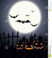 creepy halloween background halloween background with full moon and scary pumpkins royalty