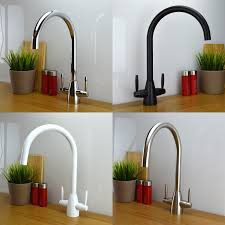 enki contemporary designer kitchen sink mixer tap monobloc solid