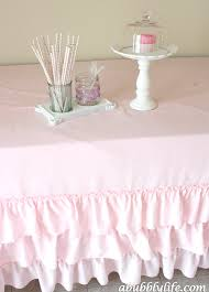 a bubbly lifediy no sew ruffle tablecloth for less than 10 a