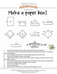 How To Make Boat From Paper - printable bible craft make a paper boat free