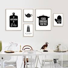 black and white prints for kitchen black and white kitchen decor wine letters canvas painting