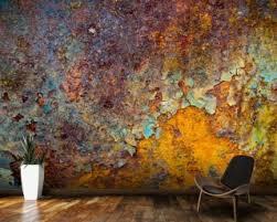metal effect wallpaper u0026 metal and rust effect wall murals