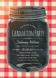 Graduation Party Invitation Card Picnic Invitations Rustic Country Mason Jar Graduation Party