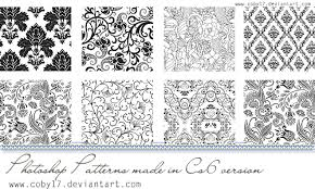 pattern from image photoshop floral black and white photoshop patterns by coby17 on deviantart