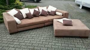 liegelandschaft sofa big sofa liegelandschaft mit hocker zustand wie neu