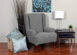 Wingback Chair Slipcover Pattern Furniture Mesmerezing Wingback Chair Slipcovers Give A Chic Look