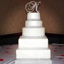 rhinestone monogram cake topper 241 best wedding cakes images on cake wedding
