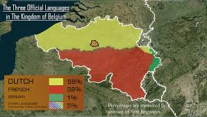 belgium language map the three official languages of belgium 2290x1300 oc mapporn