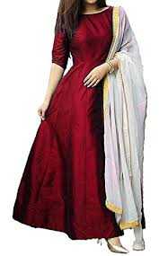 s r fashion women u0027s tapeta silk plain full stitched long gown with dup