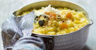 cuisiner le potiron recette risotto au potiron et au safran