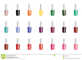 spring summer nail polish color seamless pattern background