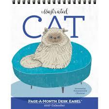 Small Easel Desk Calendar Illustrated Cat Desk Calendar 9780761188346 Calendars Com