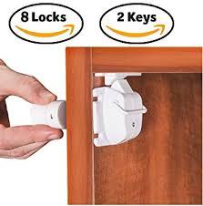 adhesive baby cabinet locks amazon com safety4u safety baby magnetic cabinet lock 8 locks 2