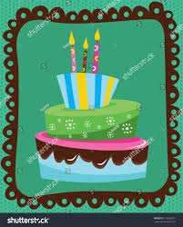 happy birthday cake card design vector stock vector 119238514
